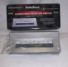 Radio Shack 4-Way Audio Video Selector Switch No.15-1983