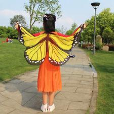 Girls Boys Kids Fairy Wings Butterfly Fancy Dress Up Costume Party Pretend Play