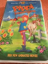 Pippi Longstocking by Clive Smith children family animated 1997 VHS (VG+)