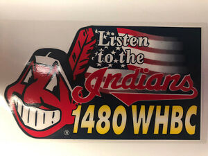 Listen to the Indians 1480 WHBC Window Cling Reusable NEW!!! Lot Of 10