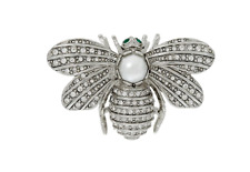 Our Memory Bee Pin Silvertone New Joan Rivers Forever in
