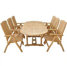 KMH® Teak Gartensitzgruppe Sitzgruppe Sitzgarnitur Gartengarnitur Holz Möbel