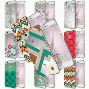 NALIA Handy Hülle für Huawei Nova, Silikon Motiv Case Cover Muster TPU Schutz