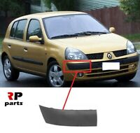 FOR RENAULT CLIO II 2001 - 2003 NEW FRONT BUMPER MOLDING TRIM BLACK RIGHT O/S