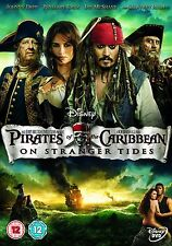 PIRATES OF THE CARIBBEAN P4 DVD ON STRANGER TIDES MOVIE CARIBIAN CARIBEAN NEW UK