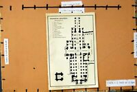 Old Antique Print 1906 Map Plan Chichester Cathedral England Lady Chapel 20th