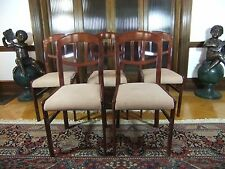 Lot of 5 Antique Chippendale Open Back Dining Chairs