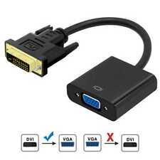 Cable Conversor Adaptador de DVI-D24+1 Macho a VGA 15 Pines Hembra Activo Negro