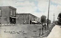Avon IL~Main Street West Side~Horse Wagon Hitching Post~Stores~1908 CU Williams