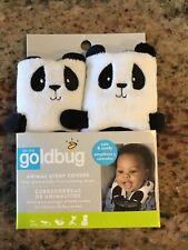Goldbug Car Seat Strap Cover Stroller Jogger Bouncer Panda Pal Soft Plush Strap