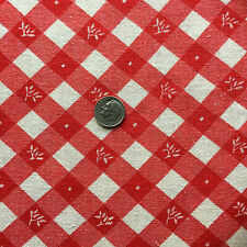 "Vintage Full Feed SackSmall Red Plaid w/Floral Accents   20"" x 18"""