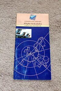 LONDON CITY AIRPORT TIMETABLE / FLIGHT SCHEDULE SUMMER 1994