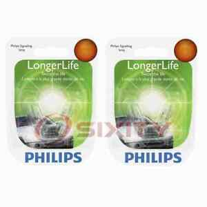 2 pc Philips Front Side Marker Light Bulbs for Jeep Liberty TJ Wrangler fu