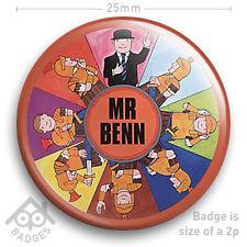 "MR BENN Retro Kids TV 70s Nostalgia Book Cover  Badge 25mm 1"" NEW"