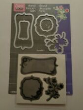 Sizzix Frame With Sprigs Stamp Set With Matching Framelit Dies