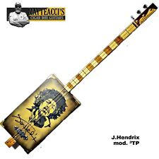 Jimi Hendrix signature Cigar Box Guitar 3T-P by Robert Matteacci