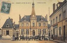 CPA 28 NOGENT LE ROI L'HOTEL DE VILLE (ANIMEE cpa toilée émaillée