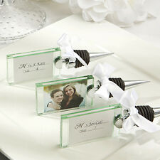 16 - Photo Place Card Holder Wine Bottle Stoppers Wedding Favor