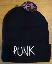 """""""Punk"""" Bonnet [Noir] unisex. Taille unique."""