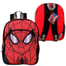 """Backpack 16"""" MARVEL HEROE SPIDERMAN Kids Boys School Large Book Bag new"""
