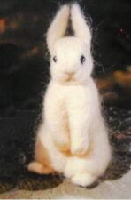 Needle Felted Animal little tan bunny rabbit Wool Art Sculpture ooak (e)
