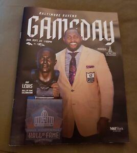 BALTIMORE RAVENS 2018 NFL GAME PROGRAM vs DENVER BRONCOS, RAY LEWIS
