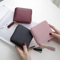Short Wallet For Women Korean Tassel Small Simple Square Zipper Wallet For Women