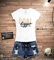 Womens T-shirt Goal Digger Cool Saying Motivation Tee Tumblr Printed Tank Top 23