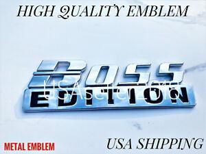 BOSS EDITION Chrome Fit All Cars Truck logo CUSTOM EMBLEM Sport Adition Fenders