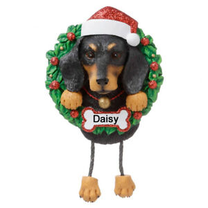 Personalised Dachshund Christmas Decoration by Polarx