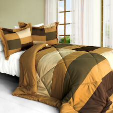 [Time Machine] Quilted Patchwork Down Alternative Comforter Set (Twin Size)