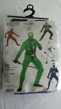 Charades Ninja Avenger Series ll Blue Adult 4PC Costume Sz X-Small : green ninja avenger costume  - Germanpascual.Com