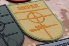 TAN SNIPER Scope Crosshair SWAT Black Ops Tactical Morale 3D PVC PATCH Badge