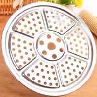 Stainless Steel Steamer Rack Plate Flour Bun Food Steaming Insert Cookware 3Size
