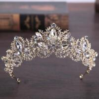 Luxury Crystal Bridal Crown Tiaras Gold Diadem Bride Wedding Hair Accessories
