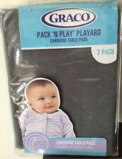 Graco Pack 'N Play Playard Changing Table Pads in Stone Gray 2 pack