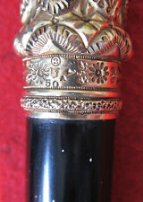 New listing Gold Headed Victorian Era Walking Stick, Simmons Bros., Excellent!