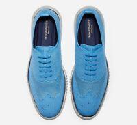 Cole Haan 2.ZERØGRAND Wingtip Men's Blue Oxford Shoes C29245 Size 9