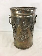 Vtg Indian Made Formed Metal Pineapple Decorative Container Canister