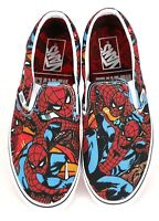 Vans x Marvel SPIDERMAN Slip-On Shoes (NEW) Mens Sizes 4-13 SPIDER MAN Free Ship