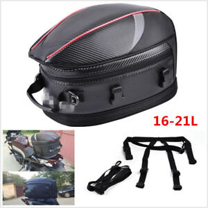 Waterproof Motorcycle Tail Bags Back Seat Bags Luggage Storage Rider Helmet Pack