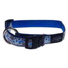 Rogz B-Blue soft touch dog collars-Reflective-Jupiter-Medium