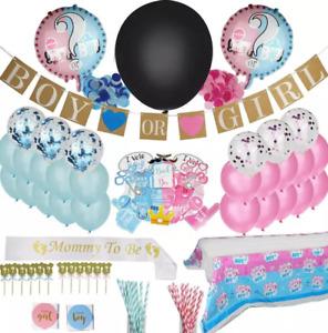 144 PCS Gender Reveal Baby Shower Party Decoretions
