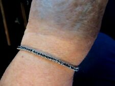 "Sterling Silver 3 Carat Black Diamond 71/2"" Bracelet"