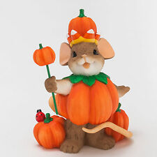 Charming Tails You Rule Mouse Pumpkin King Fall Halloween 4046781 New Figurine