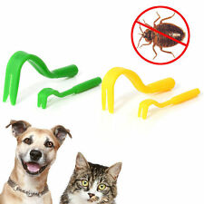 4pcs Pack (2 small & 2 large) Tick Remover Hook Tool for Human/Dog/Pet/Horse/Cat