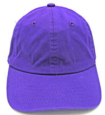 Purple Ball Cap Unstructured Dad Hat 100%cotton Adjustable OSFM Curved Visor New