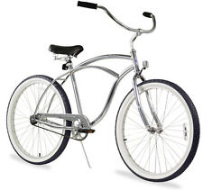 "26"" Men Beach Cruiser Bicycle Bike Firmstrong Urban Chrome"