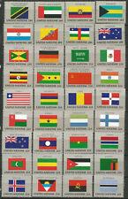NACIONES UNIDAS serie BANDERAS 1980-1986 -  112 sellos