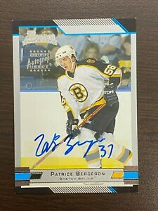PATRICE BERGERON 2003-04 AUTOGRAPHED BOWMAN ROOKIE CARD! WOW!! INVEST!!